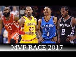 James Harden, LeBron James, Russell Westbrook, and Kawhi Leonard are the 4 leading NBA   MVP candidates.